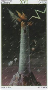 Tower Card-Magical Forest Tarot
