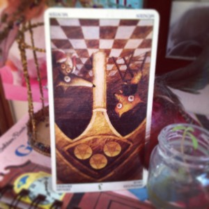 padmes card of the day 3 of pentacles reversed