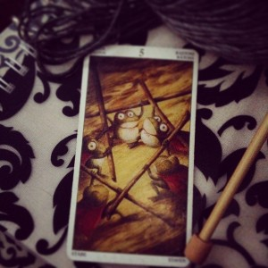 padmes card of the day 5 of wands