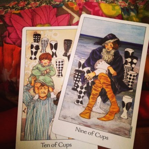 Padmes Card of the Day 10 of cups 9 of cups