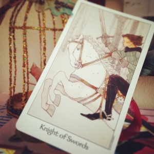 padmes daily tarot knight of swords