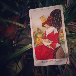 Padmes Daily Tarot Queen of Pentacles