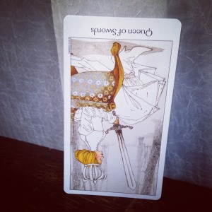Padmes Card of the Day Queen of Swords reversed