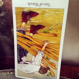 padmes card of the day 10 of wands reversed