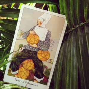 Padmes Card of the Day 4 of Pentacles