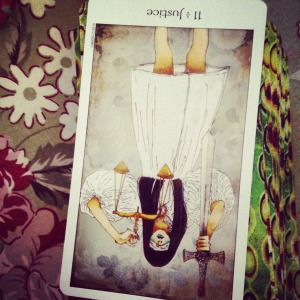 Padmes Daily Tarot Justice reversed