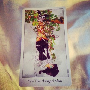 Padmes Card of the Day The Hanged Man reversed
