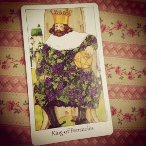padmes card of the day the king of pentacles