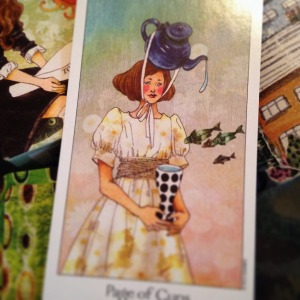 Padmes Card of the Day Page of Cups