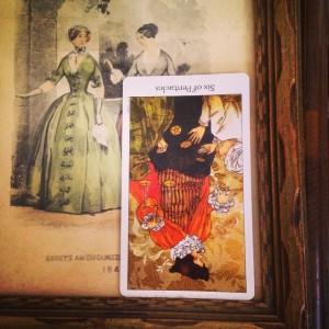 padmes card of the day 6 of pentacles reversed