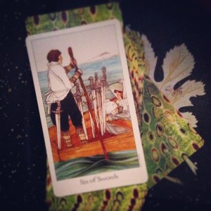 Padmes Daily Tarot 6 of swords