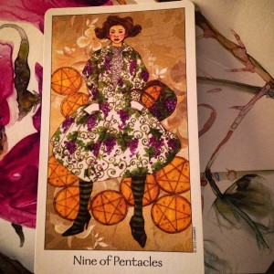 padmes card of te day 9 of pentacles