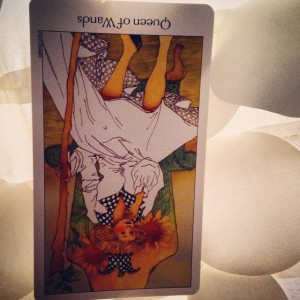 Queen of Wands reversed Padmes Daily Tarot