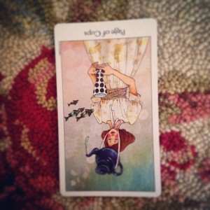 Padmes Daily Tarot page of cups reversed